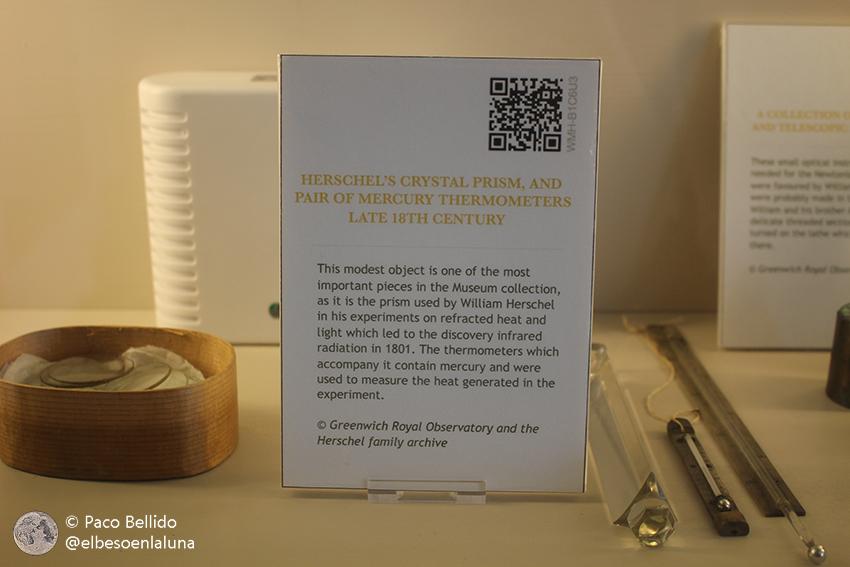 Prisma con el que se descubrió la radiación infrarroja