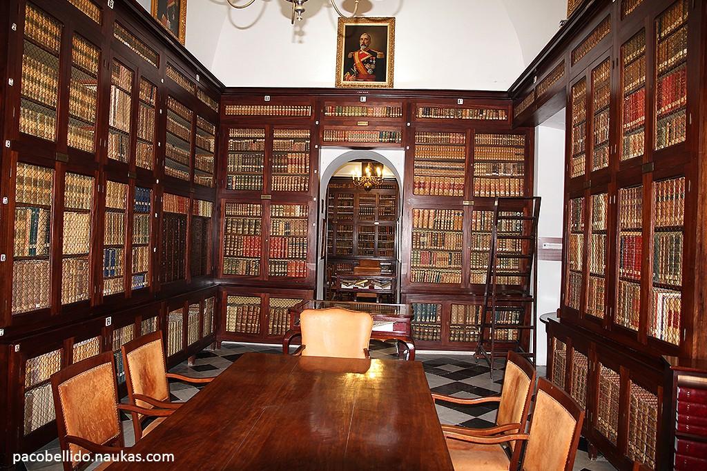 Una de las salas de la magnífica biblioteca del ROA. Foto: © Paco Bellido