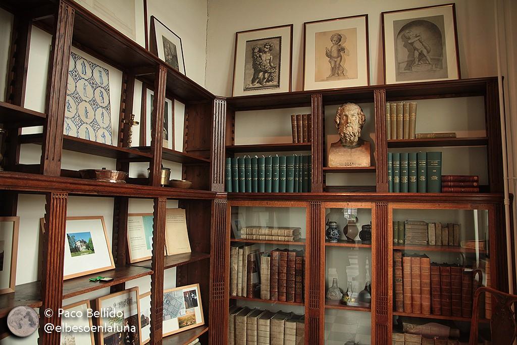 Biblioteca con las obras completas de Huygens padre e hijo. Foto: © Lola Vázquez.