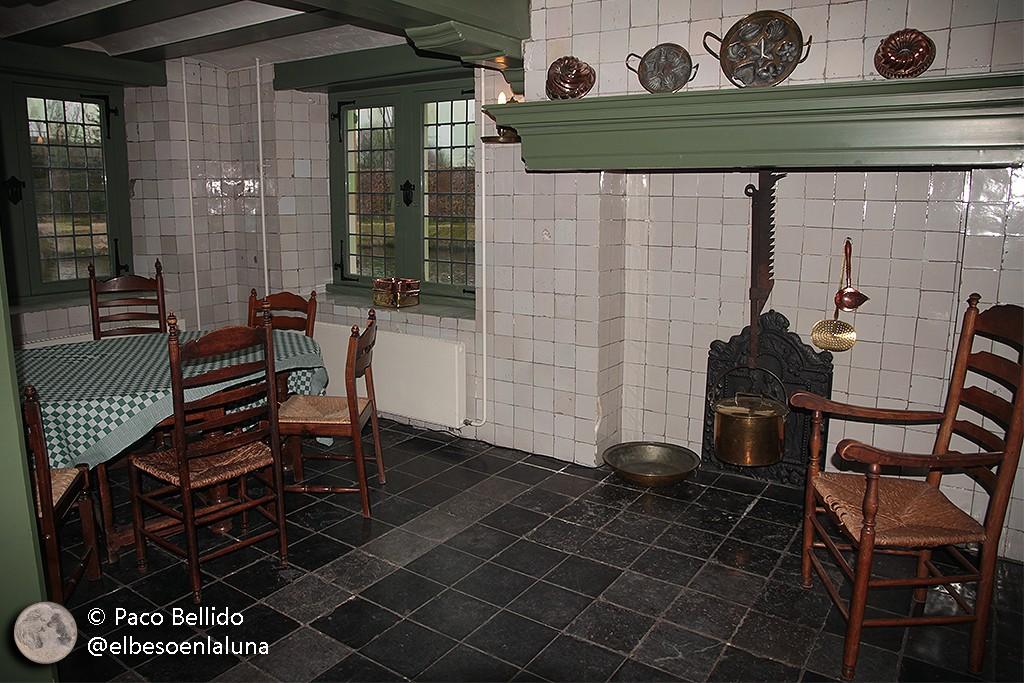 Cocina de la casa de campo de los Huygens. Foto: © Lola Vázquez.
