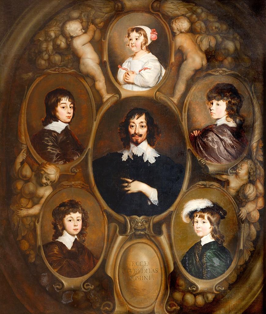 Adriaen Hanneman, Retrato de Constantijn Huygens (1596-1687) con cinco de sus hijos. © Mauritshuis, La Haya.