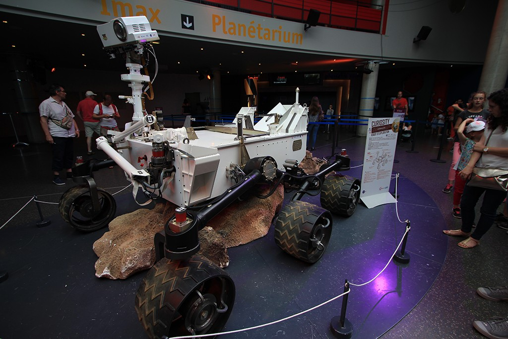 Modelo del robot marciano Curiosity. Foto: © Lola Vázquez