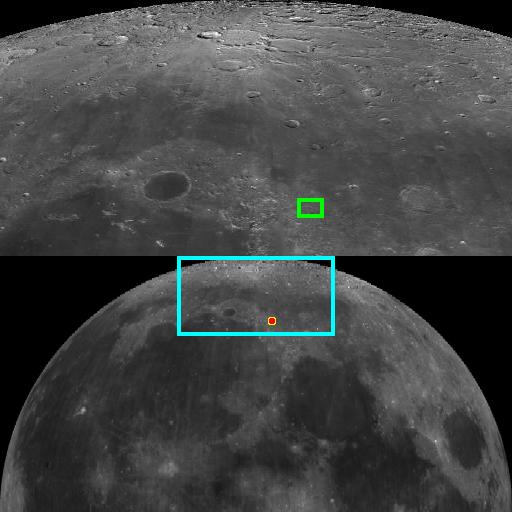 Ubicación del cráter lunar Trouvelot. Crédito: Wikimedia Commons.