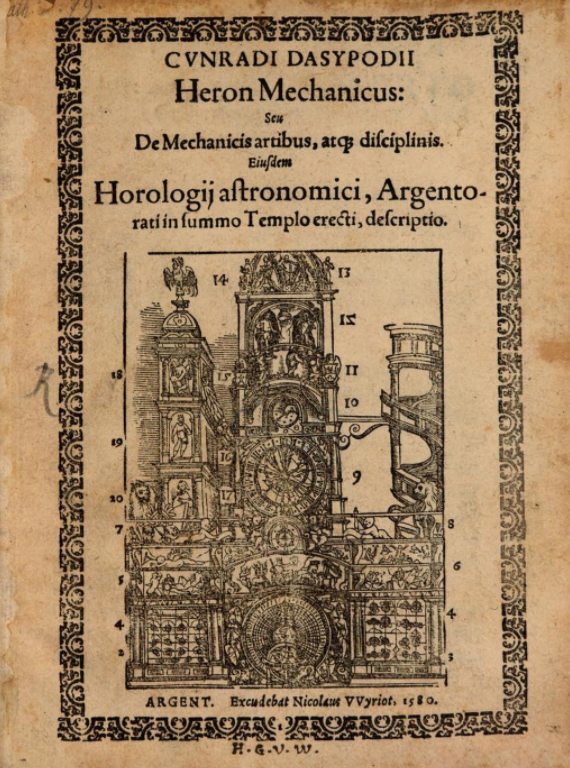 Heron Mechanicus de Dasypodius.