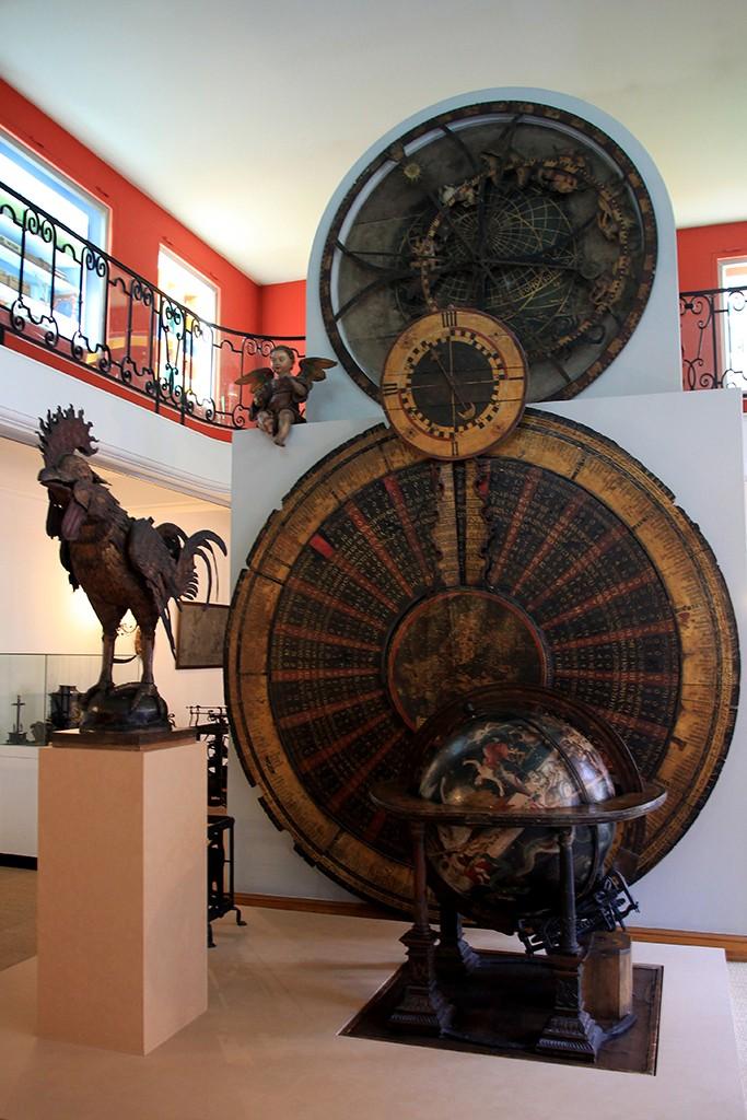 El gallo del reloj de los Reyes Magos, el autómata más antiguo de Occidente, en el Museo de Artes Decorativas de Estrasburgo. Foto: © Lola Vázquez
