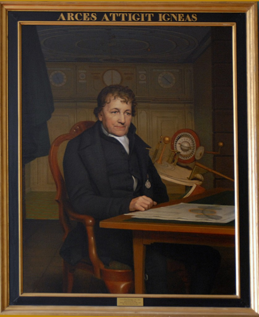 Retrato de Eise Eisinga pintado por Willem Bartel van der Kooi en 1827. Fotografía: © Lola Vázquez