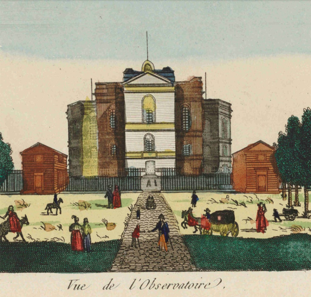 Vista del Observatorio en un grabado antiguo. Crédito: Observatoire de Paris