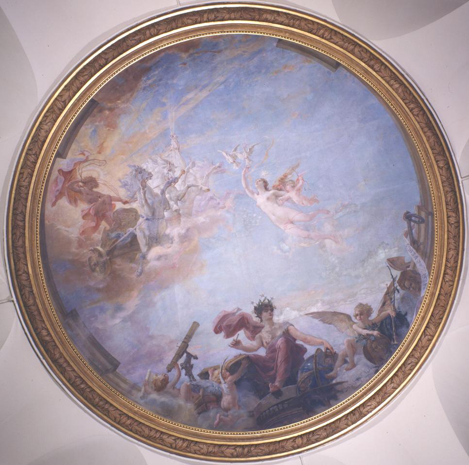 Alegoría del Tránsito de Venus. Fresco. E. L. Dupain, 1886. Crédito: Observatoire de Paris