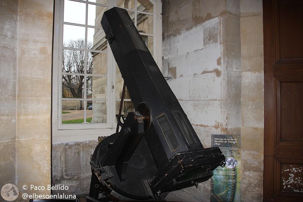 Uno de los telescopios fabricados por Foucault. Foto: © Paco Bellido
