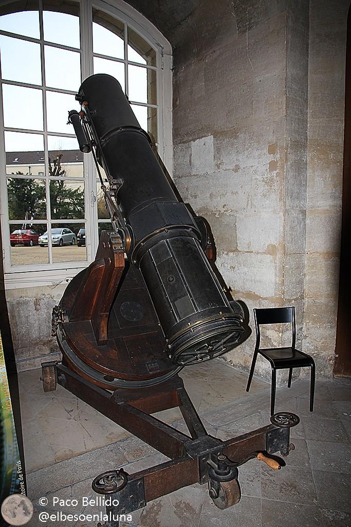 Otro telescopio conservado en el Observatorio de París. Foto: © Paco Bellido
