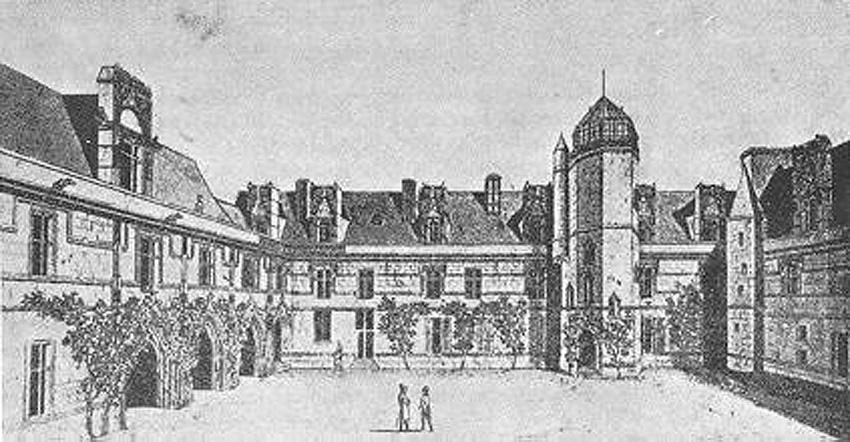 El Hôtel de Cluny en la época de Messier, nótese la cúpula del observatorio