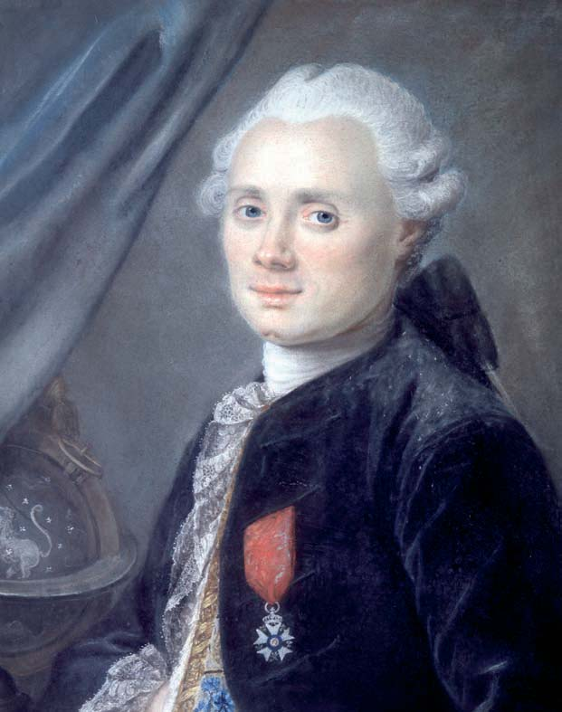 Charles Messier a la edad de 40 años retratado por Nicolas Ansiaume. Crédito: Wikimedia Commons