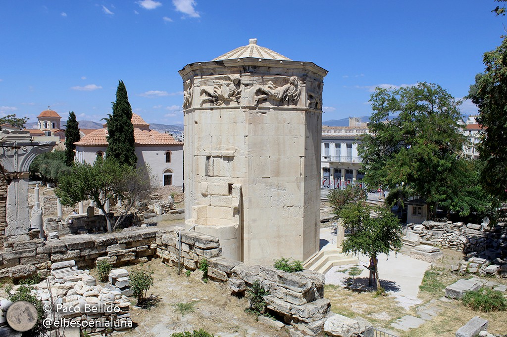 Vista actual de la Torre de los Vientos. Foto: Paco Bellido