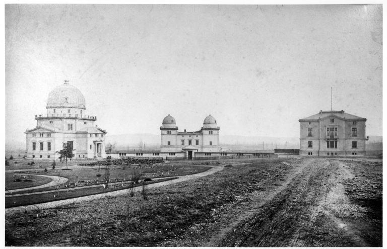 El Observatorio de Estrasburgo en la época de su inauguración. Crédito: Claude Menninger © Inventaire général, ADAGP ; © Université Louis Pasteur