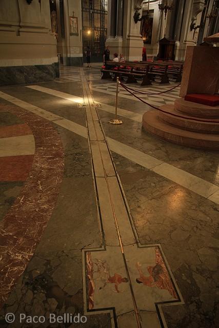 La meridiana solar de la Catedral de Palermo