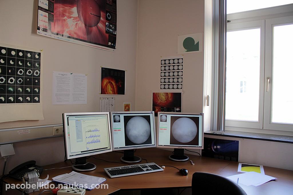 Observación solar en tiempo real en el Real Observatorio de Bruselas. Foto: © Paco Bellido