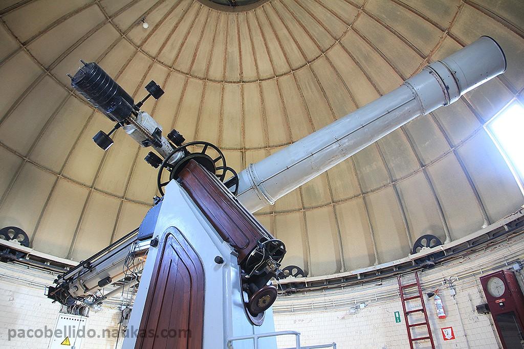 El refractor de 14,9 pulgadas fabricado por Cooke y Merz. Foto: © Lola Vázquez