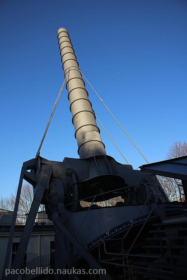 Un gran cañón celeste, el refractor de Archenhold. Foto: © Paco Bellido