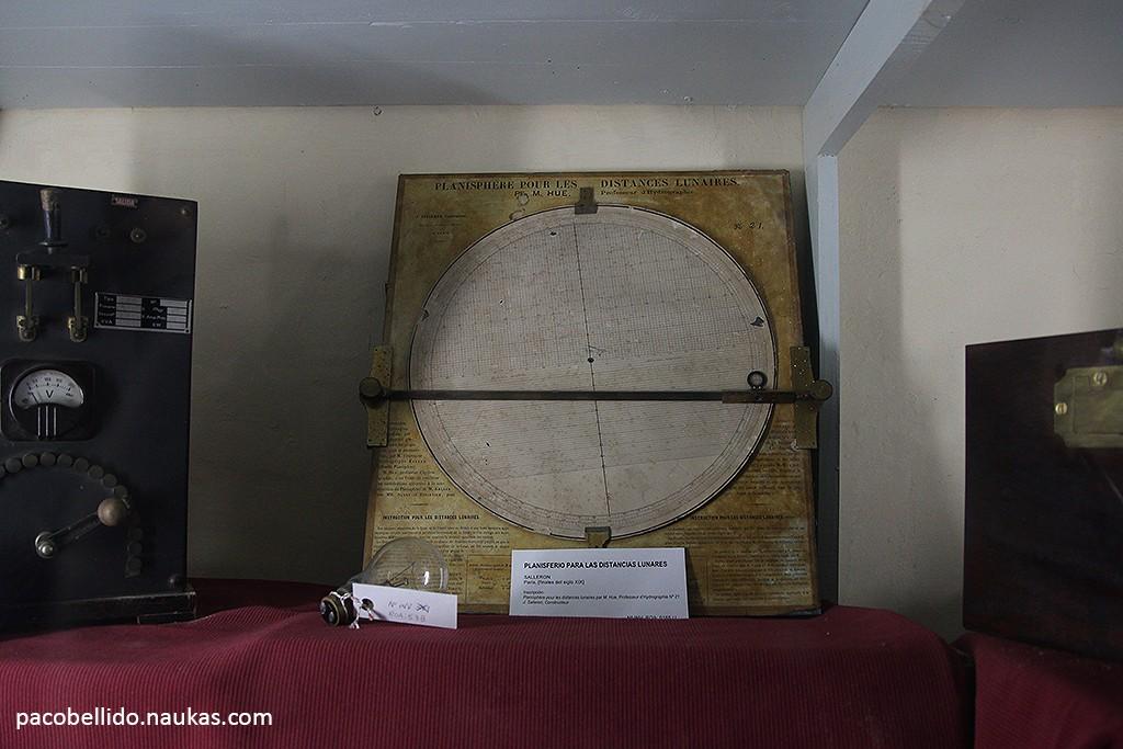 Plantilla para medición de distancias lunares. Foto: © Paco Bellido