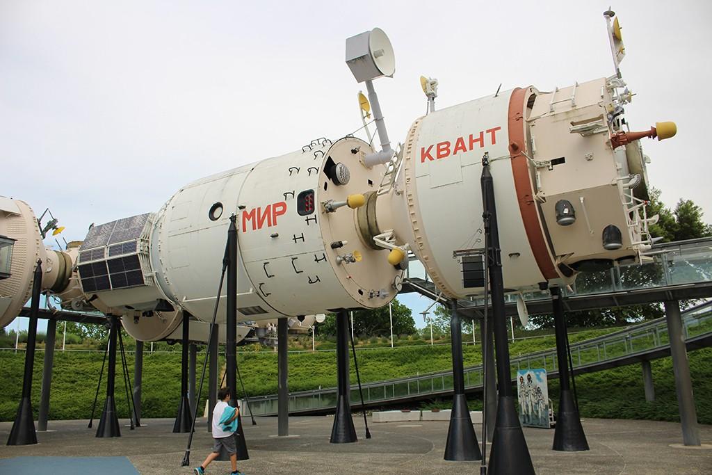 Uno de los modelos operativos de la Estación Espacial Mir. Foto: © Lola Vázquez