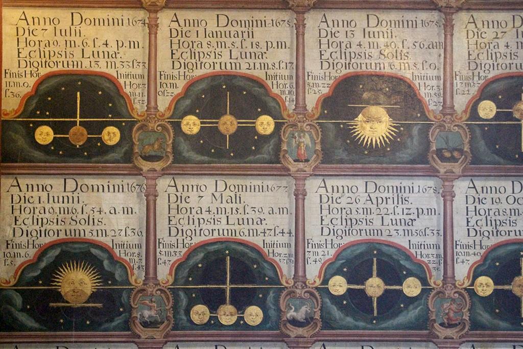 Detalles de los eclipses de Sol y Luna visibles desde Estrasburgo. Museo de Artes Decorativas de Estrasburgo. Foto: © Lola Vázquez