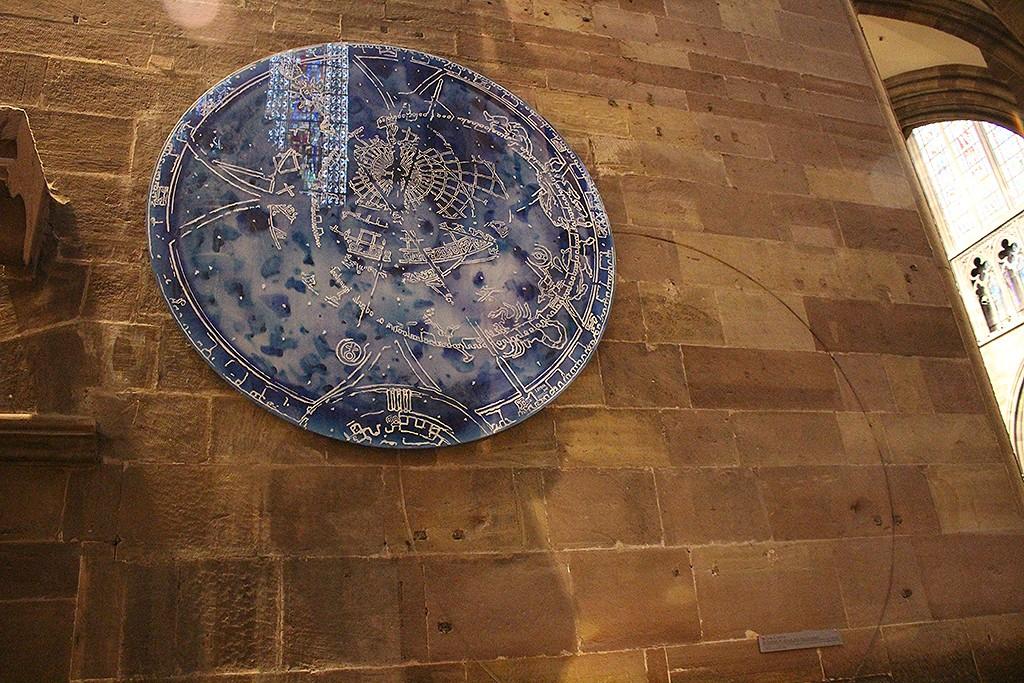 Ubicación original del primer reloj astronómico de la catedral. Foto: © Lola Vázquez