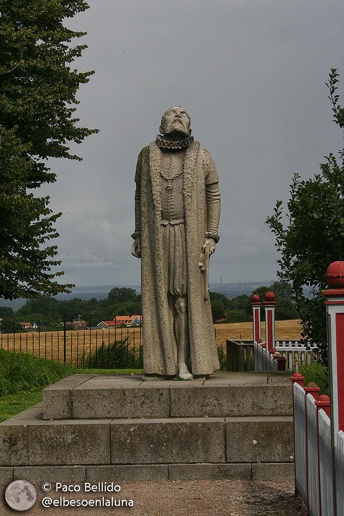 Estatua de Tycho en Uraniborg. Foto: Paco Bellido