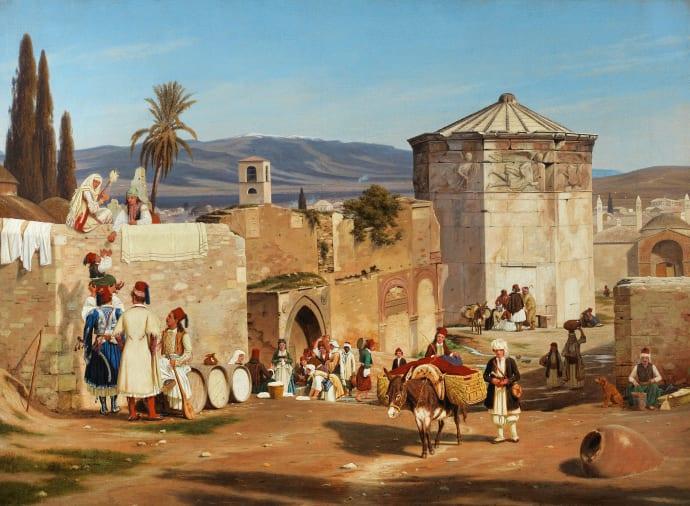 La Torre de los Vientos de Atenas. Martinus Rørbye (1839)