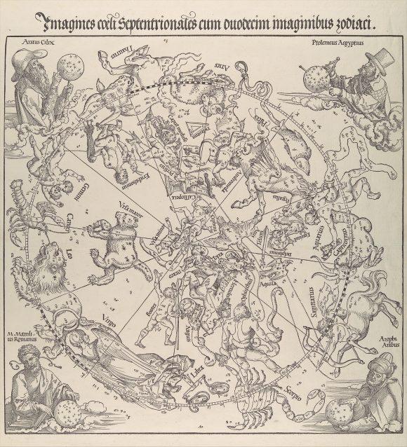 El primer mapa celeste impreso