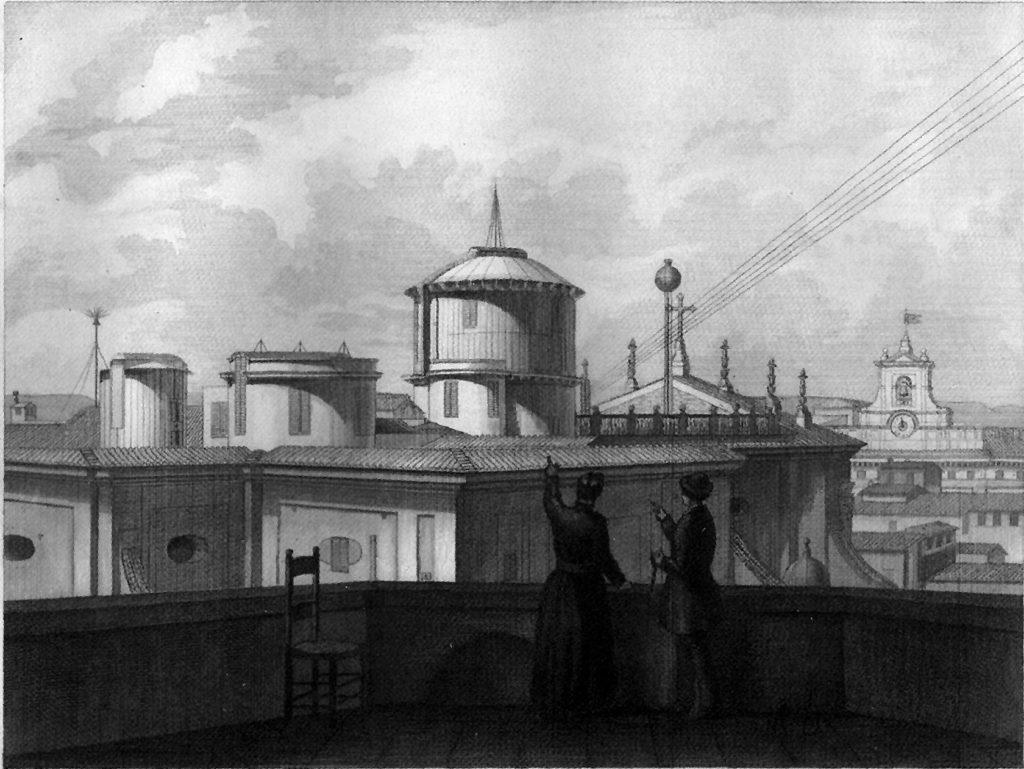 Vista desde la azotea del Observatorio del Collegio Romano