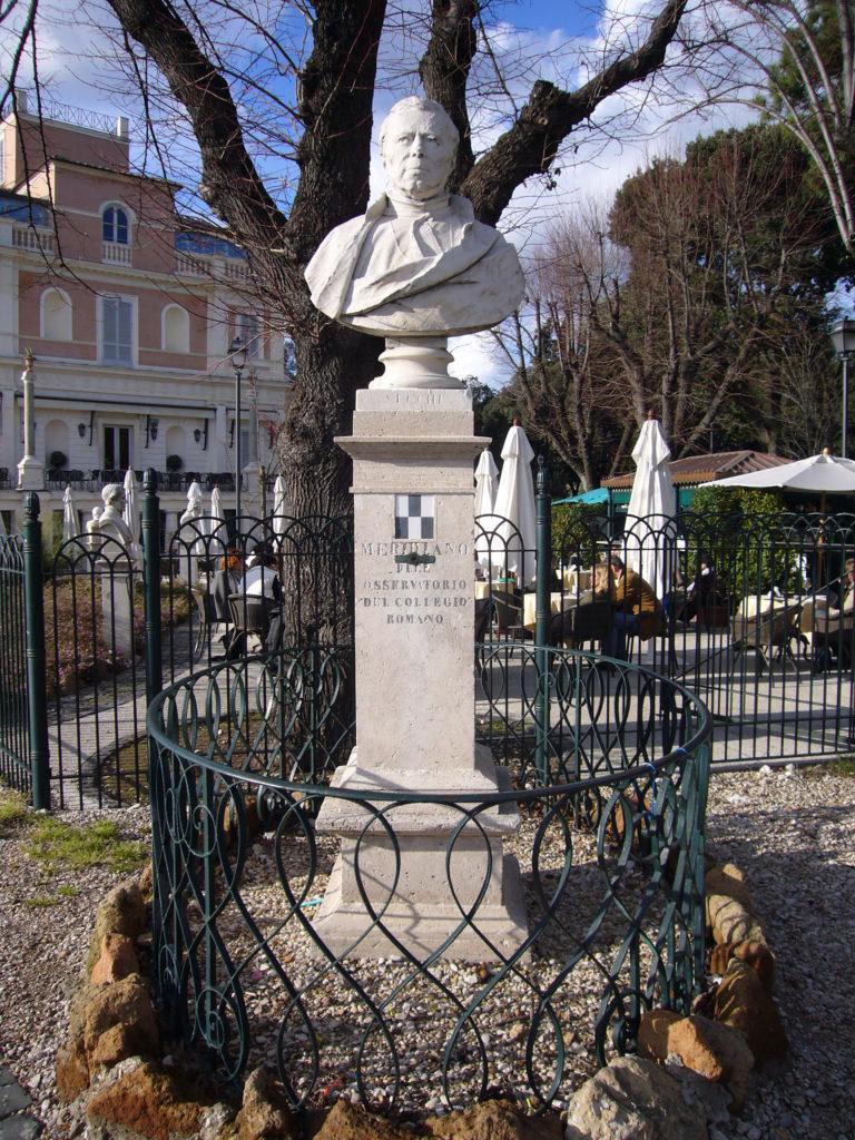Busto de Angelo Secchi en el Monte Pincio